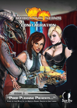 Burning Suns - Conflagration Issue 3 - Cover