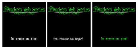 The Invaders Tee Shirt Samples